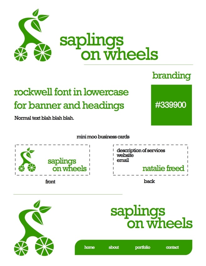 saplings on wheels branding